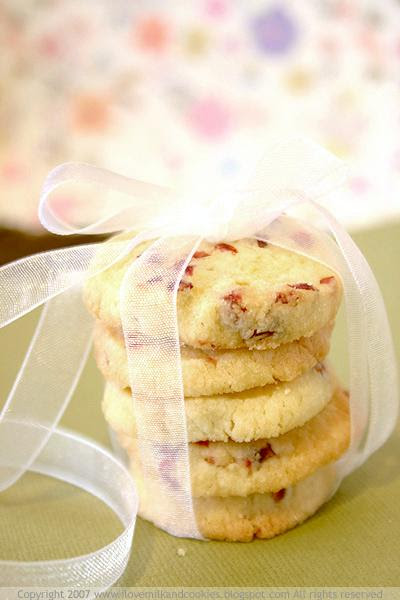 Lemon and Craisin Cookies