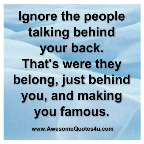 Quotes About Someone Talking Behind Your Back