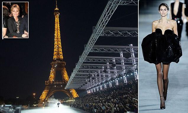 PFW: Kaia Gerber continua a conquista mundial da moda na YSL