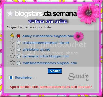 VOTEM NO BLOG DA SANDY
