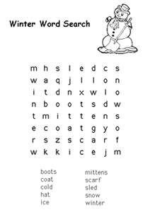printable word search puzzles & mazes. easy to print and very cute ...