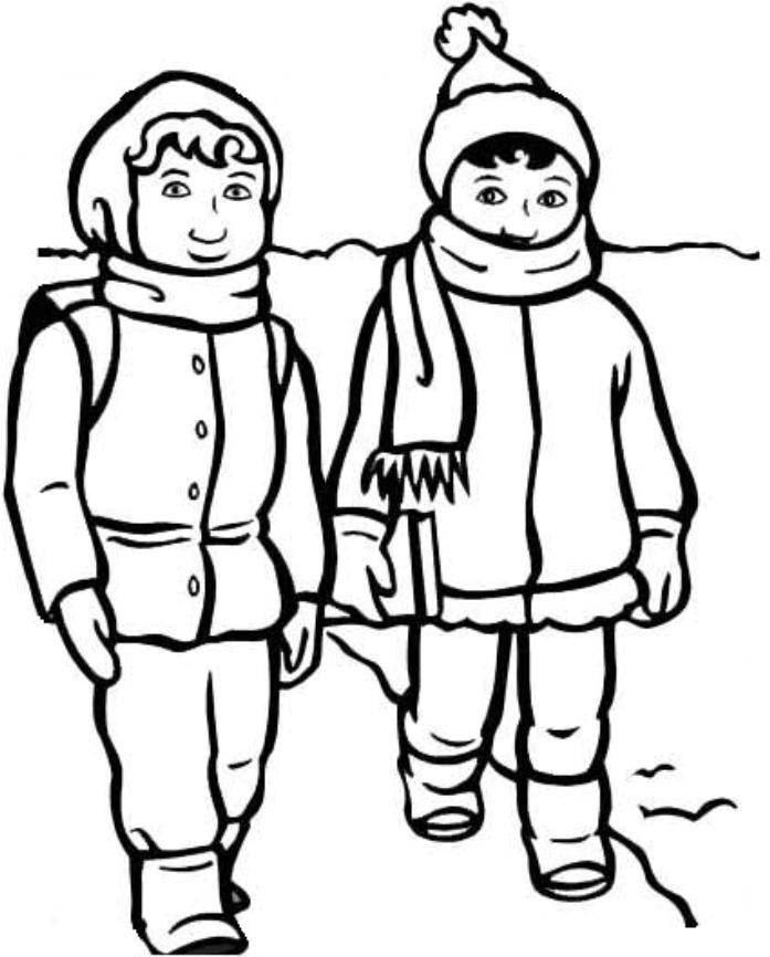 Free Printable Winter Clothes Coloring Pages Coloring And Drawing