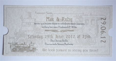 Orient Express Vintage Style Travel Ticket Wedding