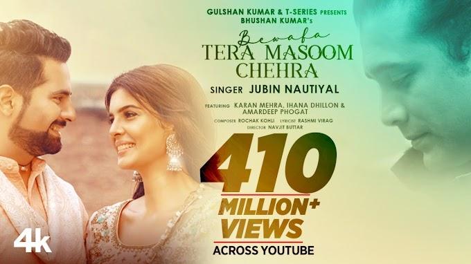 Bewafa Tera Masoom Chehra lyrics - Rochak Kohli Feat. Jubin Nautiyal, Rashmi V  2020 