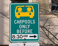 carpool lane (flickr credit: Richard Drdul)