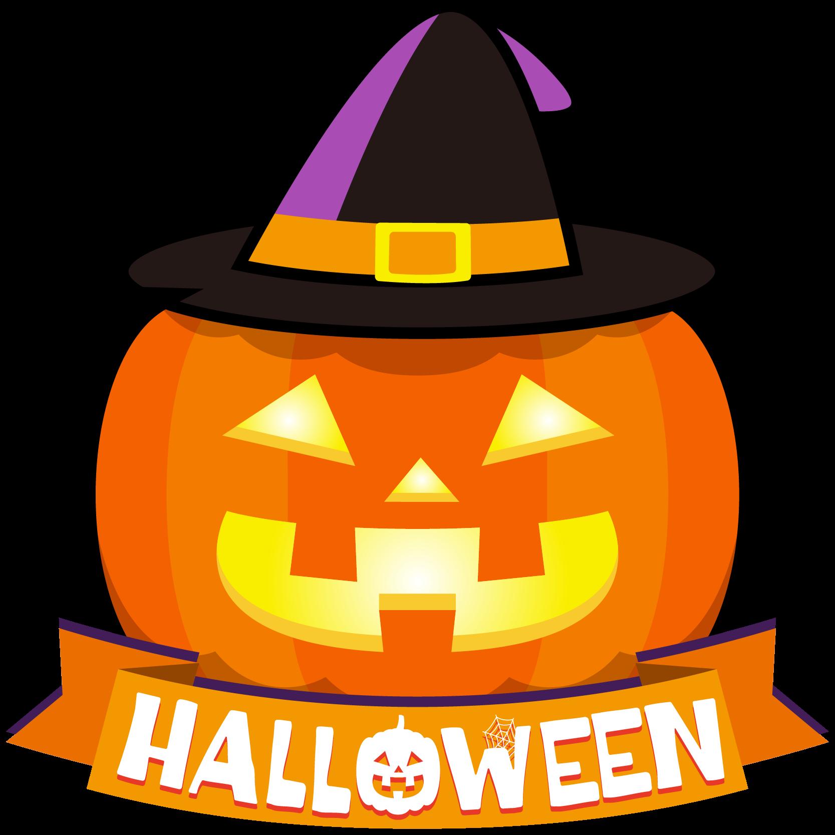 商用フリーイラスト無料10月ハロウィンかぼちゃジャックオー