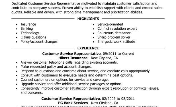 Good Resume Summary For Customer Service
