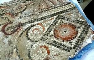Mosaico hallado en Tejada la Nueva.