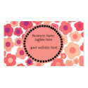 Classy Coral Floral Pattern Business Card Template