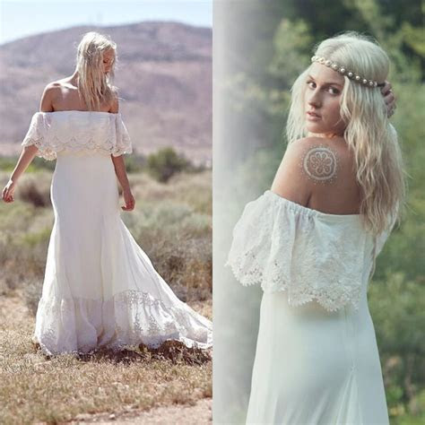 Discount 2015 New Bohemian Wedding Dresses Casual Boho
