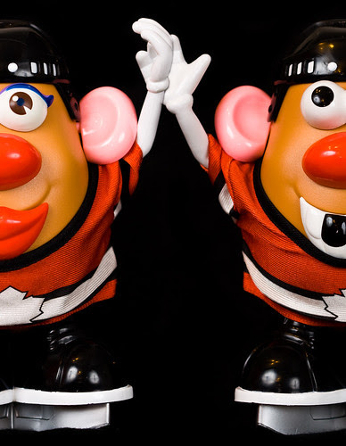 Two gold medals for Canadian Hockey Teams! Mr Potato Head Edition
