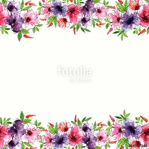 Free Watercolor Flower Border At Getdrawings Com Free For Personal