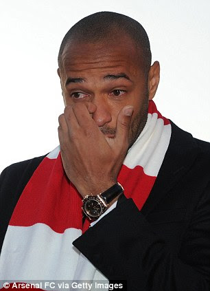 Legend No 1: Thierry Henry was in tears when Arsenal unveiled his statue