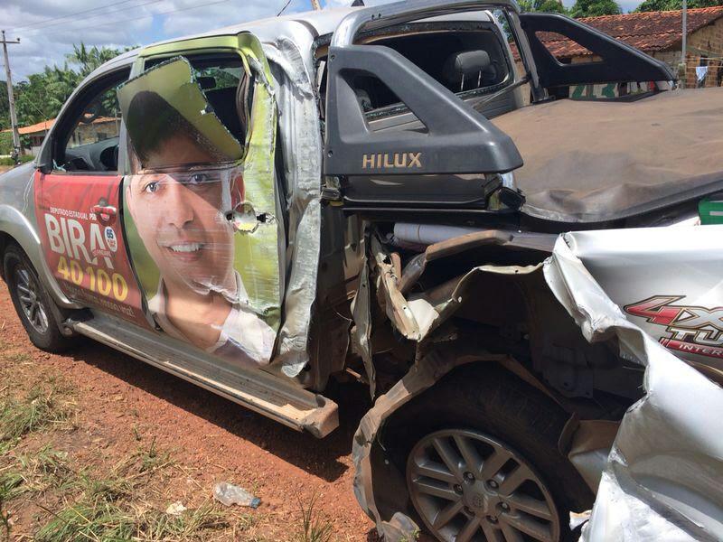 Carro de Bira do Pindaré sofreu acidente na MA-209