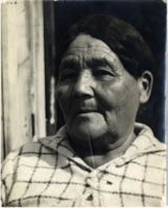 Mackosi'kwe (Mrs. Michel Buckshot,. Photo taken by Frank Speck. Mss. Ms. Coll. 126, Image 1-2-b. American Philosophical Society Digital Collections. Image Courtesy of Penn Museum Blog.