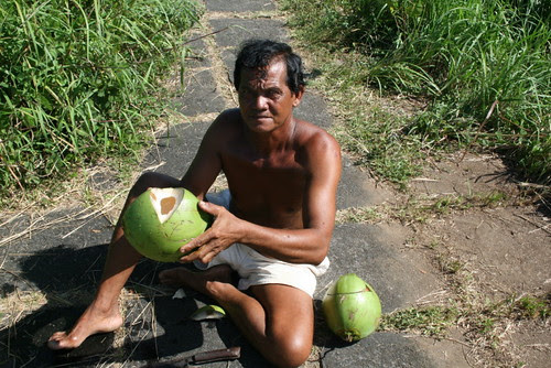 The coconut man!