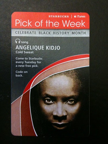Starbucks iTunes Pick of the Week - Angelique Kidjo - Cold Sweat #fb