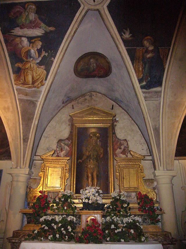 S Onofrio - cappella s Onofrio con Annunciazione di Antoniazzo Romano 1080317.JPG
