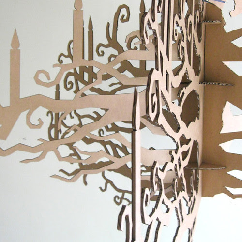 cardboard-chandelier