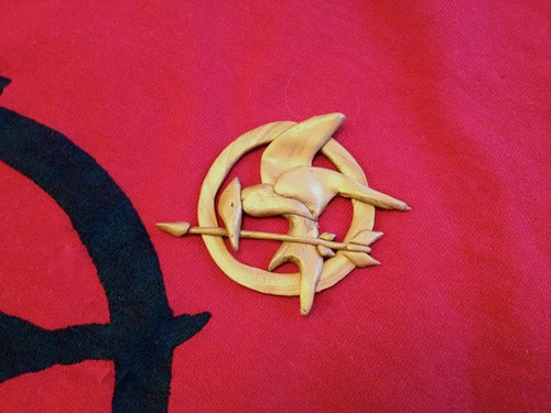 Mockingjay Pin Polymer Clay