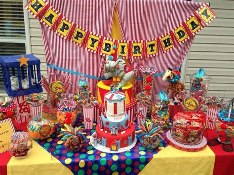 Circus Candy Table   Candy Couture Candy Buffet Tables