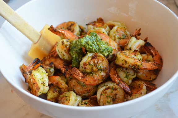 Grilled Pesto Shrimp  Once Upon a Chef