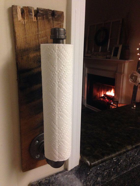 Rustic Industrial Towel Holder Kitchen Bathroom Accessories
