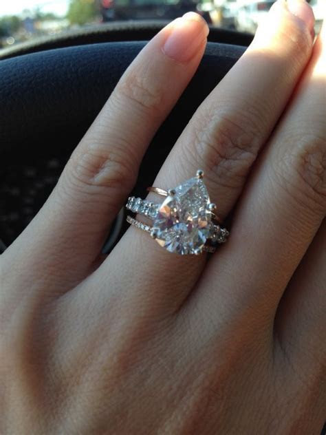 I'm in love  pear shaped diamond wedding ring, with