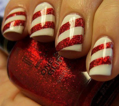Candy Cane Nails. We should do this for christmas! @Collette Vickers Vickers Michelle @Melissa Squires Squires Sutti @Leann T T Nash