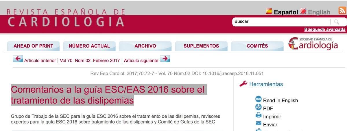 Bloc d´un Metge de Família: Comentaris a la guia ESC/EAS