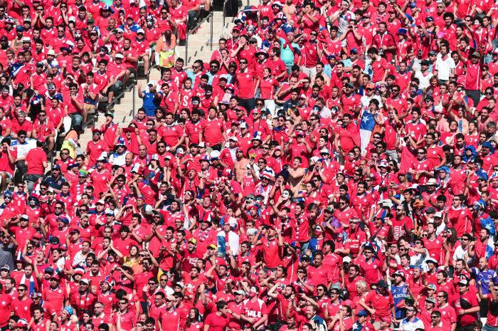 Chile também vai contar com o apoio dos seus torcedores. Foto: AFP