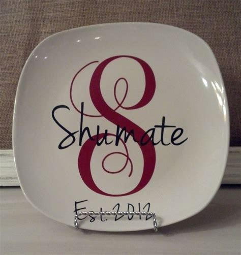 Custom Name and Initial Decorative Plate by