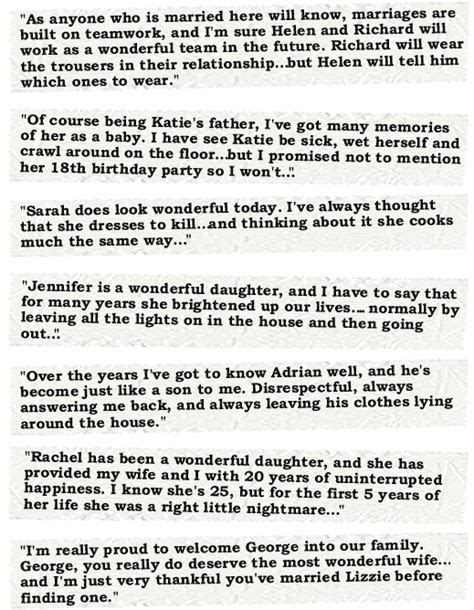 speech examples father   bride bride speech