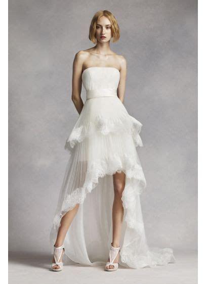White by Vera Wang High Low Tiered Wedding Dress   David's