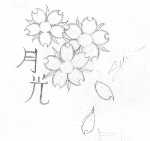 Cherry Blossom Flowers Tattoo Design By Linakins