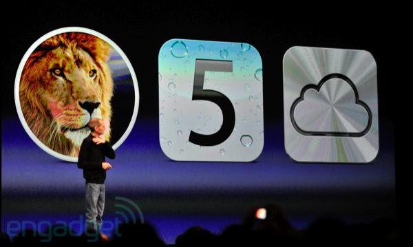 Steve Jobs no palco da WWDC 2011 (Foto: Reprodução: Engadget)