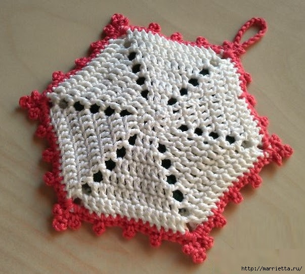 Crochet.  Tack with volume rose (8) (603x542, 200Kb)