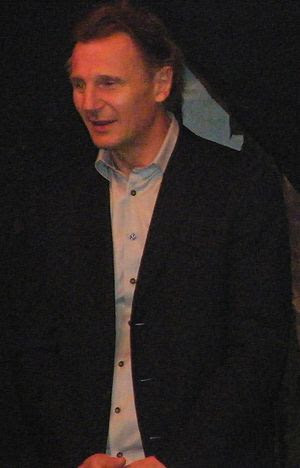 Liam Neeson at the closing of the Lyric Theatr...