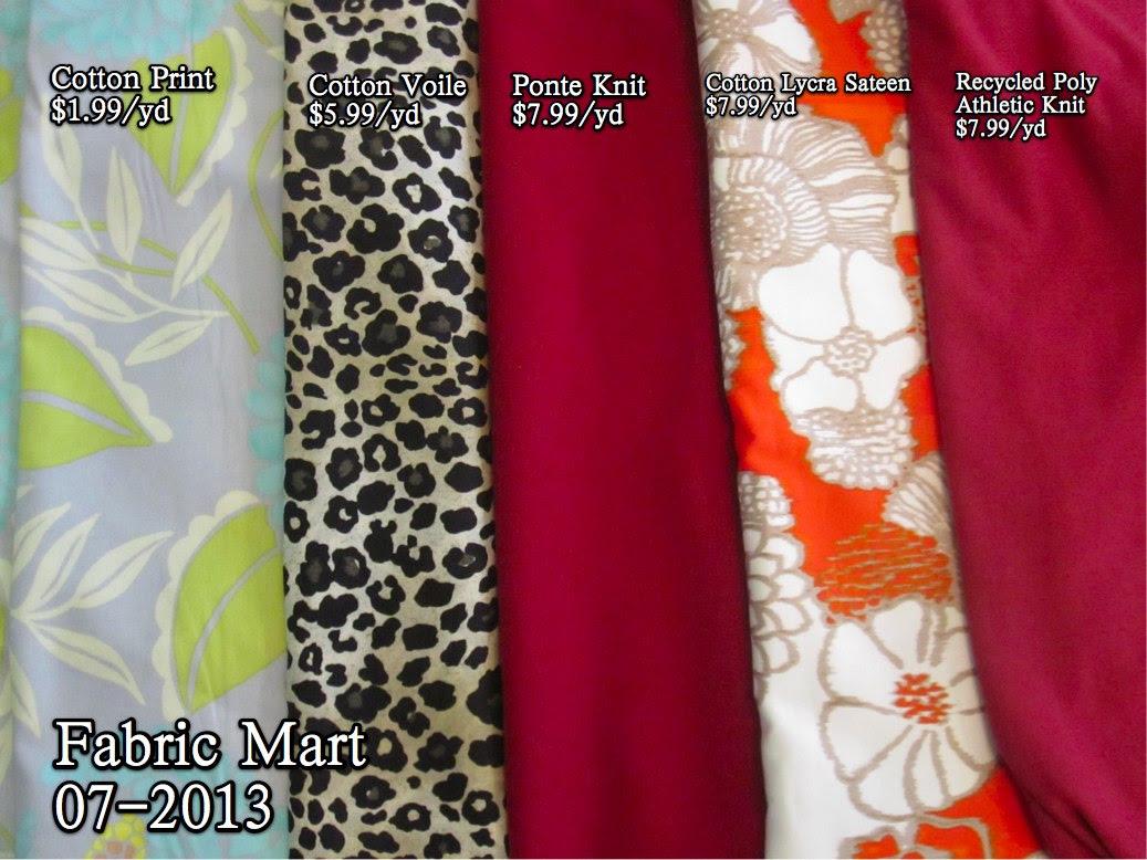 Fabric Mart, July 2013