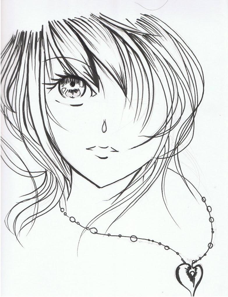 783x1020 Beautiful Cartoon Girl Faces Drawing