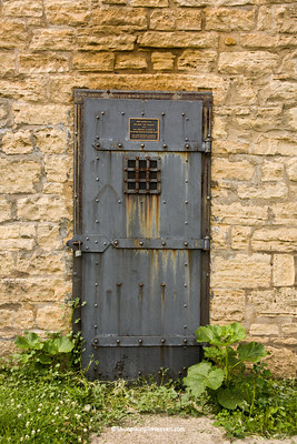 Door of Delmar Calaboose, 1878, Clinton County, Iowa