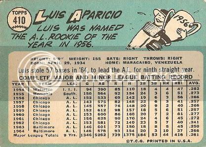 #410 Luis Aparicio (back)
