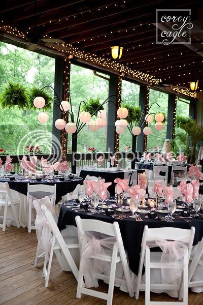 Lioncrest Wedding Reception table set up