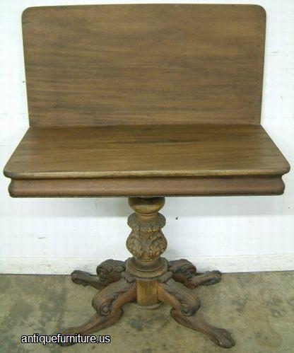 Antique Empire Furniture Company Game Table Atlanta Ga at Antique ...