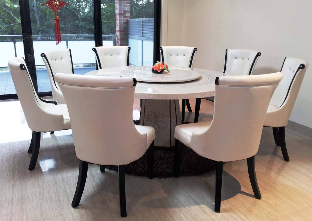 Granite Dining Table Set Flooding the Dining Room with Elegance  HomesFeed