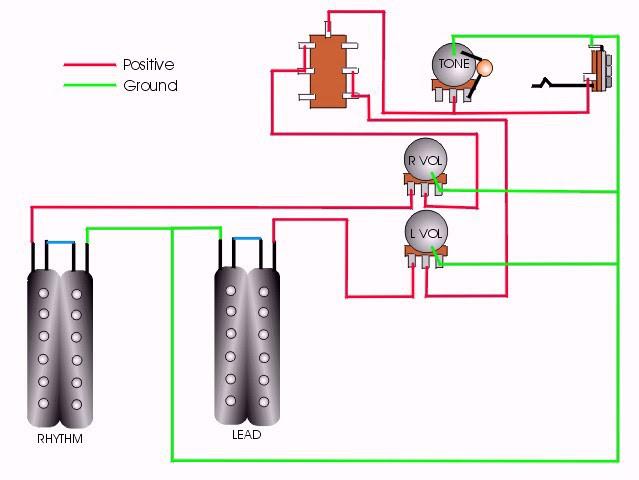 Pickup Wiring Diagram 2 P 90 Two Volume 1 Tone