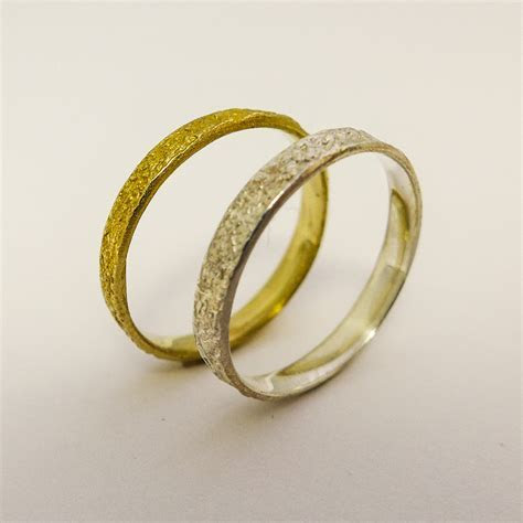 Rustic wedding rings set for men and women 14 by