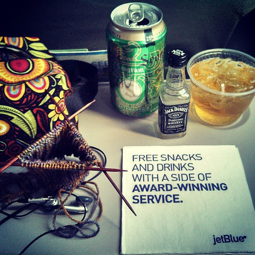 The napkin says it all! Thank you to the flight attendant who brought us FREE Jack! Starting things off right...