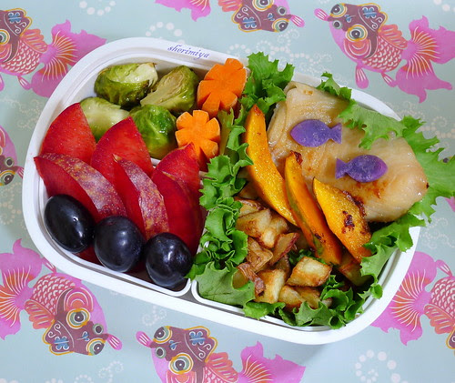 Butterfish Kabocha Bento by sherimiya ♥