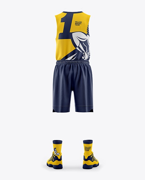Download Mens Full Basketball Kit Jersey Mockup PSD File 190.27 MB